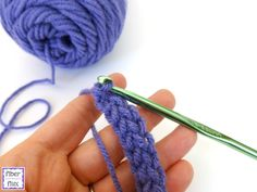 How to #Crochet the Foundation Single Crochet Stitch (fsc) (photo + video tutorial) @fiberflux