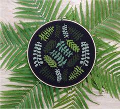 Ferns  Modern cross stitch pattern PDF  Instant от thestitchmill