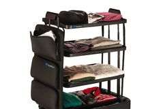Perfect for travelers who hate unpacking, ShelfPack expands into four shelves…
