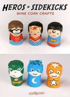 The other day I came across a random wine bottle cork behind the BBQ. I knew I needed to save it but just didn't know what for. Then I came across these Hero and Sidekick wine cork crafts and…