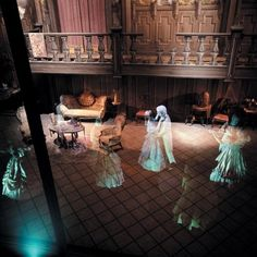 And the legendary spectral dancers? | This Is What Disney's Haunted Mansion Looks Like Behind The Scenes