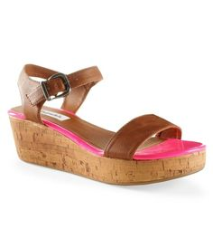 New NWT Aeropostale Wedge Sandals Pink Strap On Size 10 Only One Pair Left!