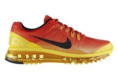 Nike Air Max+ 2013 Women's Running Shoes Shade - Orange / Yellow Black