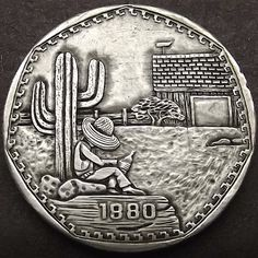 Uncertified US Nickels What Is A Hobo, Foreign Coins, Hobo Nickel, Coin Art, Porsche Logo, Making Out, Sculpture Art, Cactus Jack, Carving