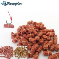Rompin 100pcs/bag Red carp fishing bait smell Grass Carp Baits Fishing Baits lure formula insect particle rods suit particle free shipping worldwide