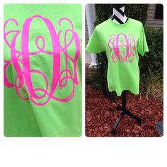 Monogram T-Shirt Custom TShirt Preppy Monogram Tee Monogrammed T Shirt Over Sized Monogram T-Shirt Bride or Bridesmaid Monogrammed Gifts on Etsy, $19.00