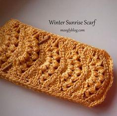 invierno bufanda amanecer crochet libre ideas de regalos bufanda patrón de crochet