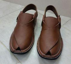 Hand Made Original High Grade Leather Peshawari Chappal (Dark Brown) #Handmade #PeshawariChappal