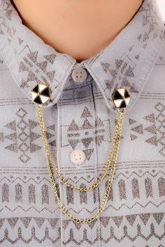 20Dresses.com - Monochrome Hexagon Collar Pins