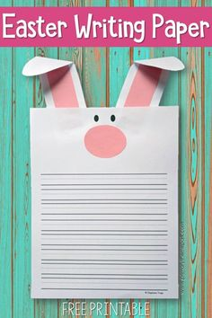Free Easter Writing Paper for Kids. So cute!  #easter #easterbunny #kidsactivities #kindergarten #firstgrade #secondgrade #writingprompts