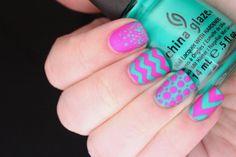 easy nail art designs for short nails - Nail Design Ideas Nail Designs 2014, Pretty Nail Designs, Simple Nail Art Designs, Nail Polish Designs, Nails Design, Easy Designs, Neon Nails, Love Nails, My Nails