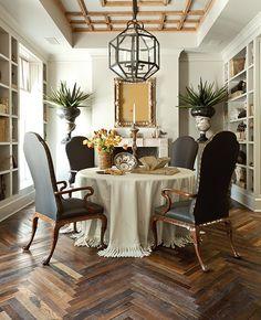Herringbone Antique French Oak Flooring, ceiling design