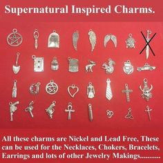 Beautiful Supernatural Inspired 32 Different Silver (Nickel & Lead Free) Charms | eBay
