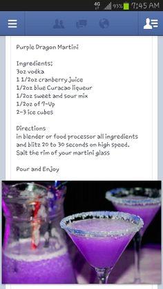 Purple dragon martini.  Only shaken. Not blended.