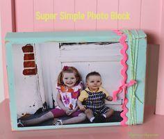 I Dig Pinterest and I Did it Too!: Super Simple Wood Photo Block