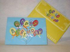 Burgoyne Handmade Balloons Bows Birthday Greeting Card New | eBay