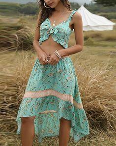 Bohemian Pants, Bohemian Tops, Boho Dress, Cheap Dresses, Dresses For Sale, Posh Clothing, Calf Sleeve, Asymmetrical Skirt, Vintage Floral