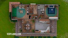 Descargar Plano de Casa Pequeña y Económica con #4 Dormitorios