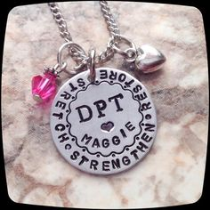 Physical Therapist  Gift, DPT, PT, PTA, Physical Therapy Staff, Rehab Office Professional Necklace, pt month