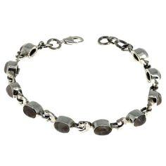 Crystal Rose Quartz Beads Oriental Bracelet Indian Jewelry Silver: ShalinCraft: Amazon.co.uk: Jewellery