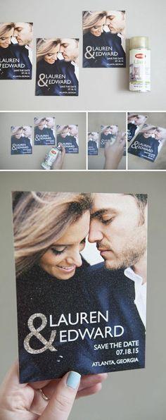 modele faire part mariage avec une photo de jeunes mariés