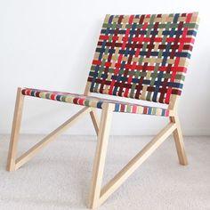 Easy Chair by Homeless Design Handmade Furniture, Wooden Furniture, Home Furniture, Furniture Design, Woven Chair, Furniture Inspiration, Chair Design, Design Design, Interior Design