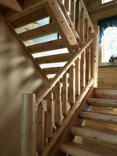 a great example of our half-log stairs.