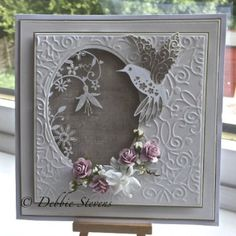 hummingbird card by Debbie Stevens