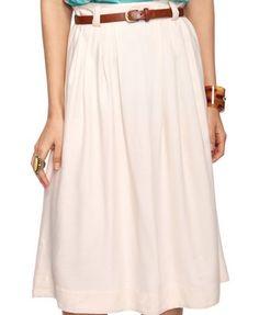 Pleated Skirt w/ Belt  $13.50
