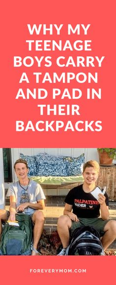 Both of my teenage boys carry a tampon and a pad in their backpack in case one of their friends needs one. Just a mom out here, trying to erase gender taboo Mom And Sister, Raising Boys, Mom Blogs, Social Platform, Kids And Parenting, Laughter, Backpacks, Period, Gender