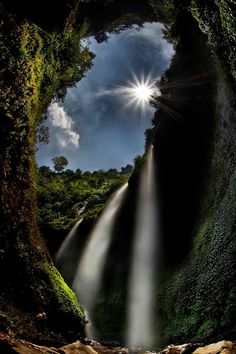 Madakaripura waterfall located in Sapih village, Lombang district, East Java, Indonesia. not far from Mount Bromo area.
