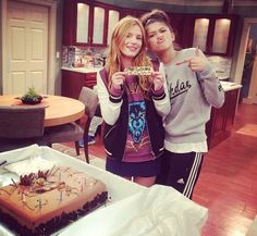 "Bella Thorne On The Set Of ""KC Undercover"" With BFF Zendaya Coleman"