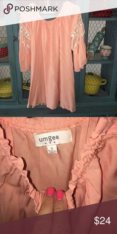 Adorable dress/tunic by Umgee Adorable dress/ can be worn as tunic//size small//worn 1 time//EUC// my daughter wore this with cite cowgirl boot 😍//smoke free home umgee Dresses Mini