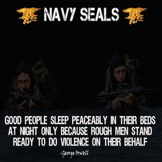"""US Navy Seals poster with George Orwell """"Rough Men Stand Ready"""" quote available with customizations at usamilitaryposters.com"""