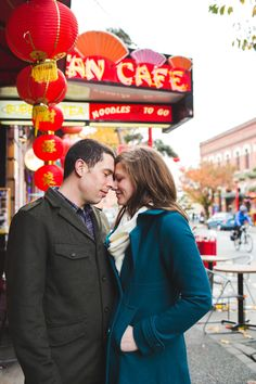 Engagement session in Chinatown in Victoria, BC by Lara Eichhorn Photography.
