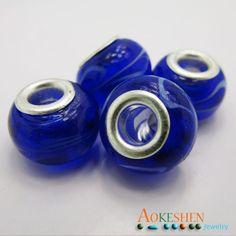 $1.39    Darkblue Lampwork Murano Glass Beads Silver Core Fit Bracelet http://www.eozy.com/darkblue-lampwork-murano-glass-beads-silver-core-fit-bracelet.html