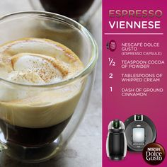 Dolce Gusto Espresso Viennese – Espresso with a touch of elegance! You can make this yummy recipe with the Nescafe Dolce Gusto Circolo by DeLonghi. This multi-beverage system allows you to create so many different drinks- from coffees to iced drinks and more!