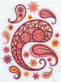Paisley medley motifs from Embroidery Library.