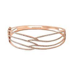 EFFY® 1 ct. tw. Diamond Bangle Bracelet in 14K Rose Gold  available at #HelzbergDiamonds