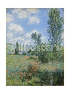 View of V¨¦theuil Landscapes Giclee Print - 46 x 61 cm
