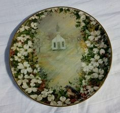 """""""Southern Sunday II"""" Collector Porcelain Plate by Arkansas Artist Glynda Turley  #Decorative #WhiteOakPorcelain"""