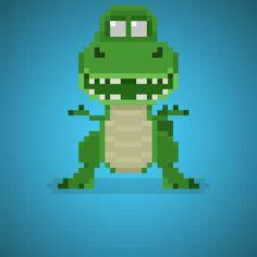 Rex (Wallace Shawn) from Toy Story Series #rex #trex #wallaceshawn #dinosaur #dinosaurs #tyrannosaurus #tyrannosaurusrex #dinosauro #carlovalli #disney #pixar #disneypixar #andy #cartoons #cartonianimati #sceriffo #cowboy #cowboys #pixel #pixelart #16bit #instacartoon #toys #toystory #instatoys #giocattoli #toy