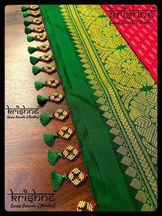 Wedding Silk Saree Tassel Kuchu from Krishne Tassels