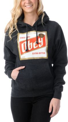 OBEY Obey High Life Charcoal Grey Pullover Hoodie $49.95 $39.99 Buy 1 Get 1 50% off