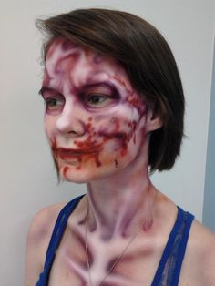 charity event zombie by #MikeBmakeup http://www.facebook.com/MikeBMakeup