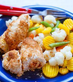 Roladki z kurczaka w kokosowej panierce Shrimp, French Toast, Chicken, Meat, Breakfast, Food, Morning Coffee, Essen, Meals