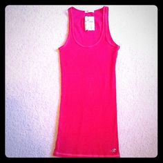 Pink Hollister ribbed tank Gently worn Hollister Tops Tank Tops