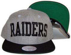 Mitchell & Ness x NFL - Oakland Raiders - NFL Throwback Basic Arch Road Gray 2 Tone Snapback - Men's Hat [Snap Back] | Underground Hip Hop