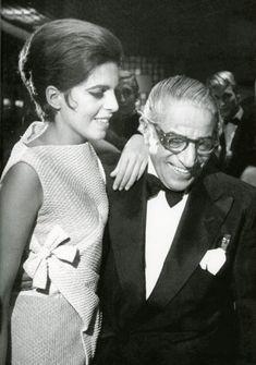 Ari Onassis and his daughter Christina, Jackie's stepdaughter.