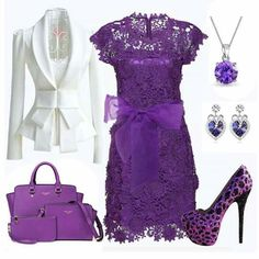 Minus the bow on the dress, the jewelry n different shoes.